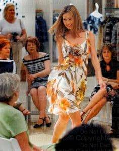 Models shows off new dress style at Neiman Marcus in Tampa, FL.